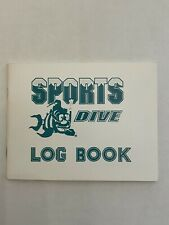 """New listing Dive Log Book, water proof pages, 51/2""""x 41/2"""" Scuba Diver, Sports Unlimited"""