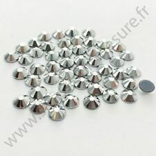 Strass thermocollant rond hotfix ARGENT, 2mm, 3mm, 4mm, 5mm, 6mm au choix