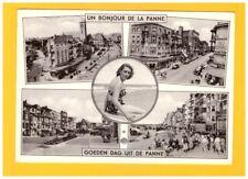 LA PANNE (BELGIQUE) PIN-UP & CITROEN 2CV aux COMMERCES en 1961