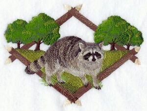 Embroidered Fleece Jacket - Raccoon Diamond Portrait A5042 Sizes S - XXL