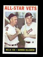 1964 TOPPS #81 NELLIE FOX/HARMON KILLEBREW EXMT ALL-STAR VETS HOF *SBA4424
