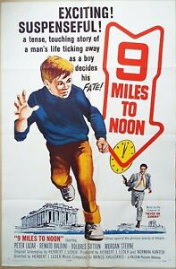 Nine Miles to Noon 1964 Peter Lazar Dolores Sutton! Original US ONE Sheet Poster