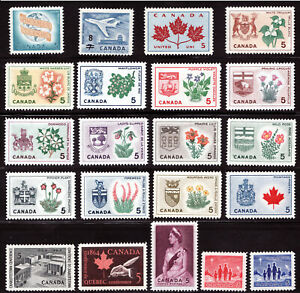 1964 Year Set / Canada MNH  Stamps w/ provincal flowers & crests - Superfleas