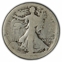 1916-S 50c Walking Liberty Half Dollar - Semi-Key Date Coin - SKU-X947