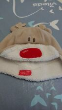 Baby Fleece Christmas Reindeer Hat Age 46cm (Fit To 2 year)