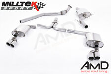 Milltek Audi A5 Sportback 2.0 TFSI Cat Back Exhaust Quad Outlet 2009 to 2012