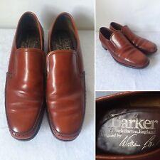 Vintage Mens 1960s Barker Brown Leather Slip On Shoes Size 7.5 UK Mod
