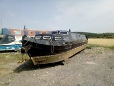 narrow boat 48 foot Hull project with engine for sale