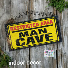 Man Cave Sign * Indoor decor * Gameroom Bedroom USA * DecoWords * New in Pkg
