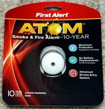 NEW First Alert ATOM Smoke & Fire Alarm 10 Year Micro Design Model P1010