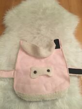Kensington Kennel Club Pink Ivory Shearling Dog Jacket Size Small