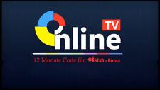 OnlineTV 12 Monate Code istar korea A8500 A9000 A9700 Plus A7500 Mega Online TV