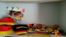 23-teiliges Deutschland Dekopaket, Fußball, WM, EM, Flagge, Mütze, Party, Hut