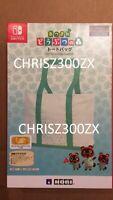 HORI Animal Crossing New Horizons Nintendo Switch Tote Bag Storage Case Backpack