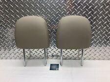 10-15 TOYOTA PRIUS FRONT SEAT HEADREST SET HEAD RESTS RH LH BEIGE LEATHER OEM