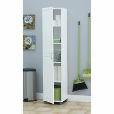 Laundry Room Cabinet Tall Storage Kitchen Pantry Bathroom Cupboard White Linen