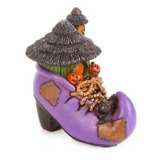 Miniature Dollhouse Halloween Fairy Garden Witch Shoe Boot House Figurine Statue
