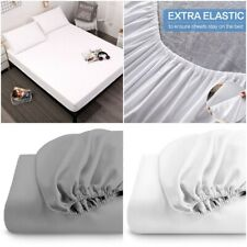 600TC FITTED SHEET 30CM DEEP HIGH THREAD COUNT 100% EGYPTIAN COTTON SINGLE KING