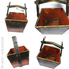 Antik China Holz Korb Reis Behälter Antique Chinese Wood Basket 19th / 20th C.