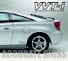 VVTI DECALS STICKERS (PAIR) CELICA MR2 YARIS 25CM MANY COLOURS