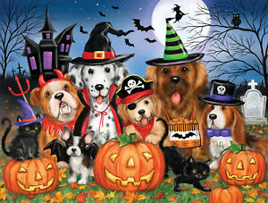 READY FOR HALLOWEEN by MAKIKO SunsOut 300 LARGE piece DOGS COSTUMES puzzle NEW