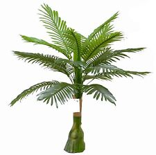 Künstliche Palme Kunstpalme 90cm Fächerpalme Kunst Pflanze Deko Baum Palmwedel