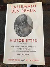 Tallemant Des Reaux~1961~Historiettes~Pleiade