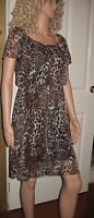 Ladies Leopard print mini dress easycare size 10