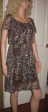 Ladies Leopard print mini dress easycare size 10