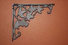 Italian Restaurant Wall Decor Grape Leaf Shelf Brackets 9 inch Cast Iron, B-12