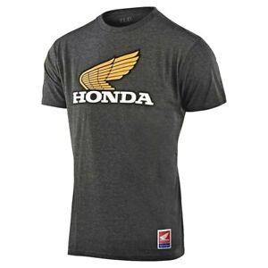 Troy Lee Designs Honda Retro Wing Tee L TLD Men's T-shirt Gray Large