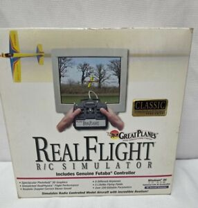 Vintage Great Planes Real Flight R/C Simulator Futaba 1997 with Disk