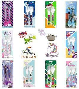 Lol Surprise,Peanuts, Frozen II Kids Cutlery Set Spoon Fork Girls Boys Gift Set