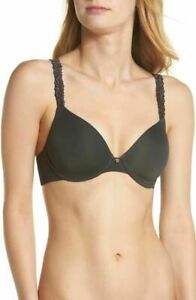 Natori #731080 Underwire Lined Olive Lace Straps T-shirt Bra 38C