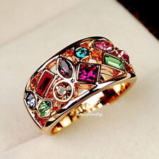 Unbranded Yellow Gold Plated Cocktail Fashion Rings