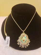 KENDRA SCOTT DAENERY'S GOLD PLATED ADJUSTABLE STATEMENT NECKLACE NWT $195