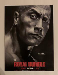 """WWF WWE Promo Poster The Rock Dwayne Johnson Royal Rumble 2013 1/27/13 12"""" x 16"""""""