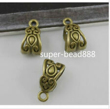 Free 18Pcs Bronze Plated Spacer Bail Beads Charms Pendant Fit Bracelet 14x8mm