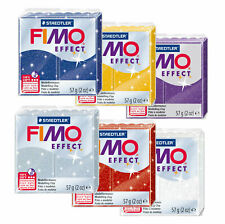 Fimo Effect GLITTER 57g Polymer Clay Full 6 Colour Range Modelling Craft Kit