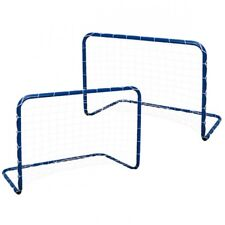 ALERT Sports 2x Fussballtor Kinder Fußball Hockey Tor Set Metall blau 78x56