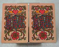 Single Swap Playing Cards. Vintage 1970s LOVE. MCM Modern Art (2)