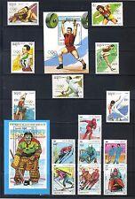 Cambodia #962-69, 1030-37 1992 Barcelona & Albertville Olympics  MNH SCV $20.25