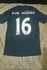 Manchester City Football Shirt size LB no16 KUN AGUERO