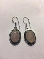 Jewelry Handmade Earring-E8611 Rose Quartz Gemstone Ethnic