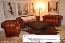 Chesterfield  Glenwood +Bett   de Luxe 3+2+1 Echt Leder Garnitur
