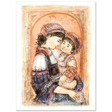 """Edna Hibel """"Mother And Child Of Thera"""" Signed Limited Edition Lithograph Art"""