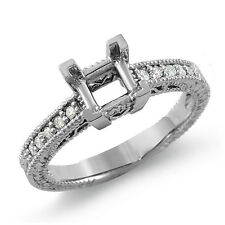 0.15 Ct Round Princess Cut Setting Diamond F VS1 Engagement Ring 14K Gold White