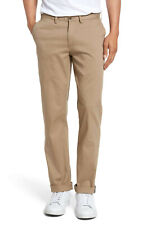 Cremieux Mens New $80 MEDIA Flat Front Chino Pants 38 38w 38x30 L Large Khaki