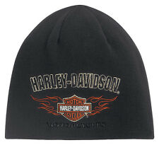 Genuine Harley Davidson® Men's Reversible Flame Beanie Style Knit Hat 99509-12VM