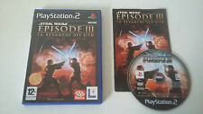 STAR WARS EPISODE 3 LA REVANCHE DES SITH - SONY PLAYSTATION 2 - JEU PS2 COMPLET